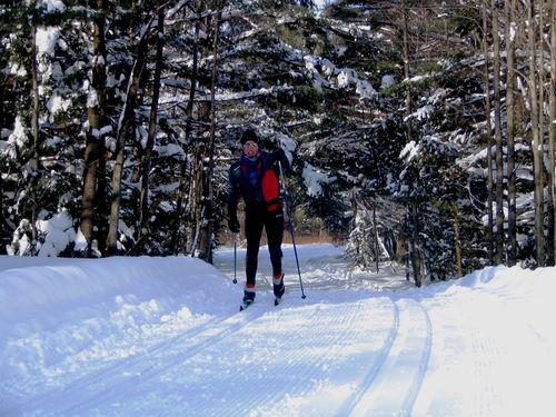 Centre de ski de fond Cèdres_Granby_Skieur